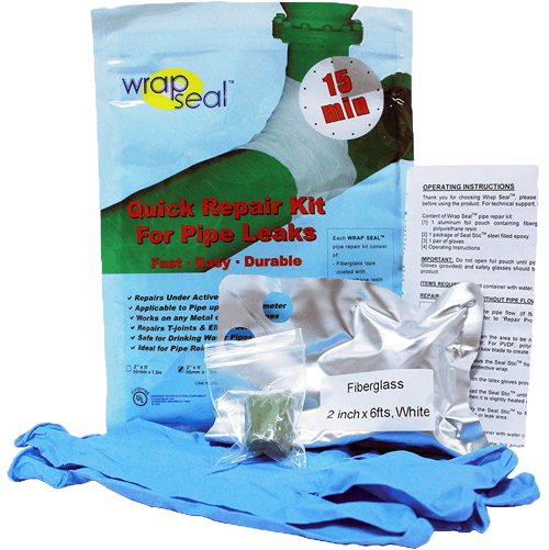 1433 Pipe Repair Kit Wrap Seal Kit1 - LEAK REPAIR PRODUCTS (ES)