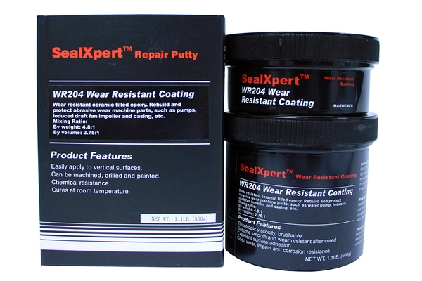 Trowelable wear, abrasion and impact resistant ceramic and carbide epoxy protection coating for pumps, valves, fans, chutes, silos, pipelines, augers and mixers