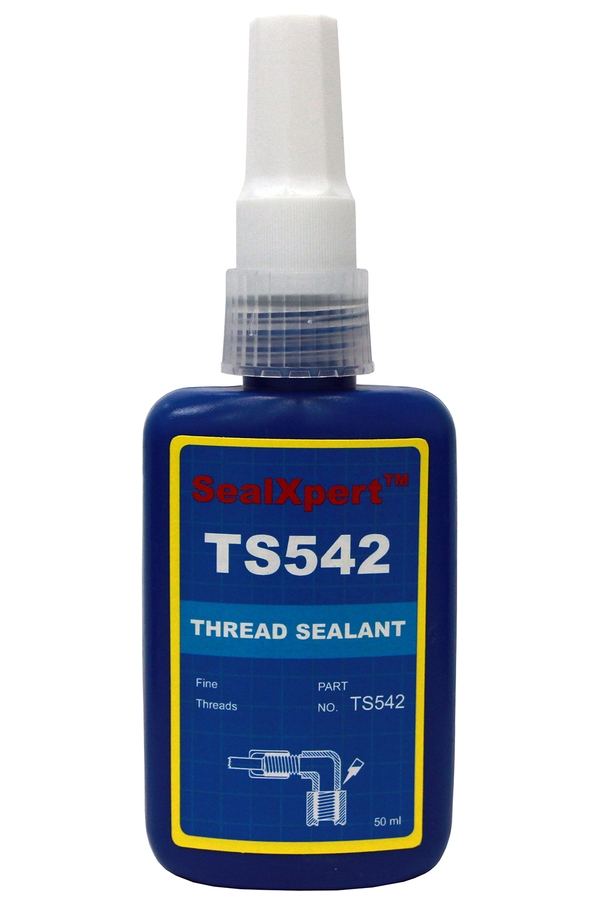 Thread Sealant Brown for sealing fine threads in hydraulic and pneumatic metal pipes and fittings. Will not clog valves or filters